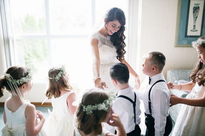 Her students couldn't be happier to be flower girls and ring bearers.