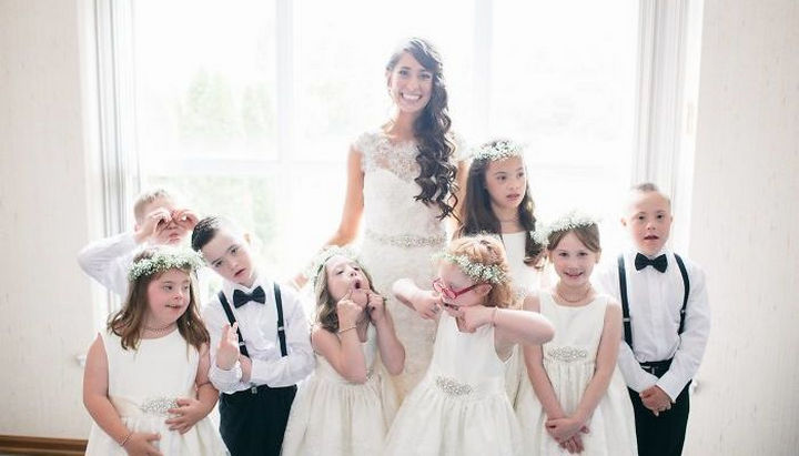 Kinsey and her husband Josh couldn't have picked a cuter wedding party.