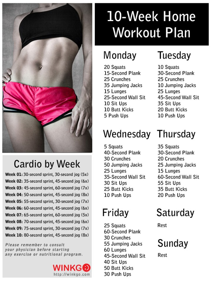 A 10-Week No-Gym Workout Plan To Lose Weight and Feel Great!