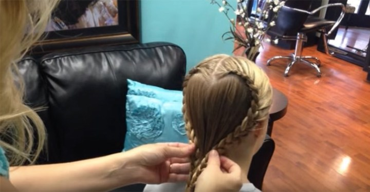 Heart Braid Video Tutorial Creates Beautiful Hairstyle for Valentine's Day.