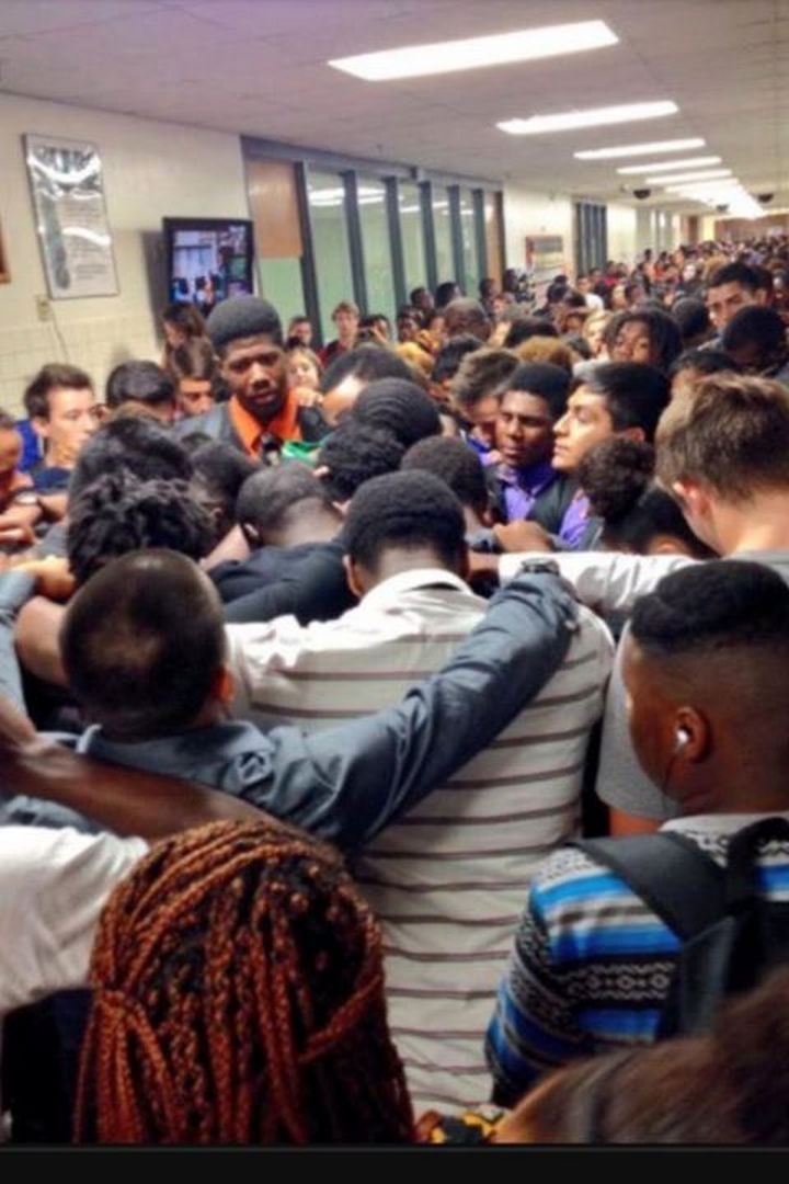 10 Random Acts of Kindness - Students comforting a classmate after losing his mother to cancer.