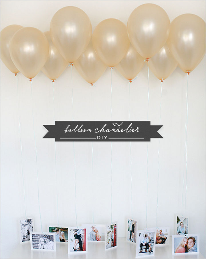 27 DIY Valentine's Day Crafts - Surprise your Valentine with a DIY balloon chandelier.