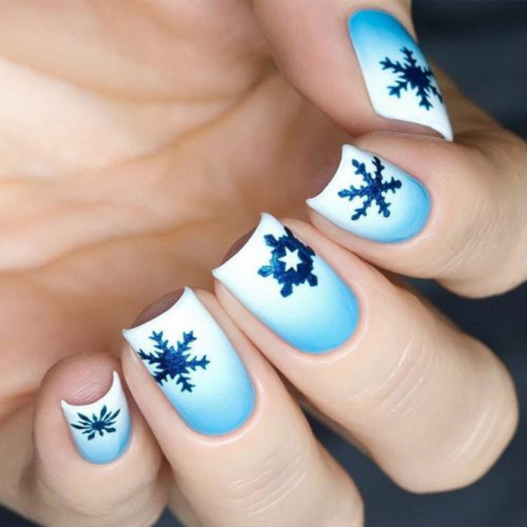 17 Winter Nails - Cool winter nails that are as pretty as a snowflake.