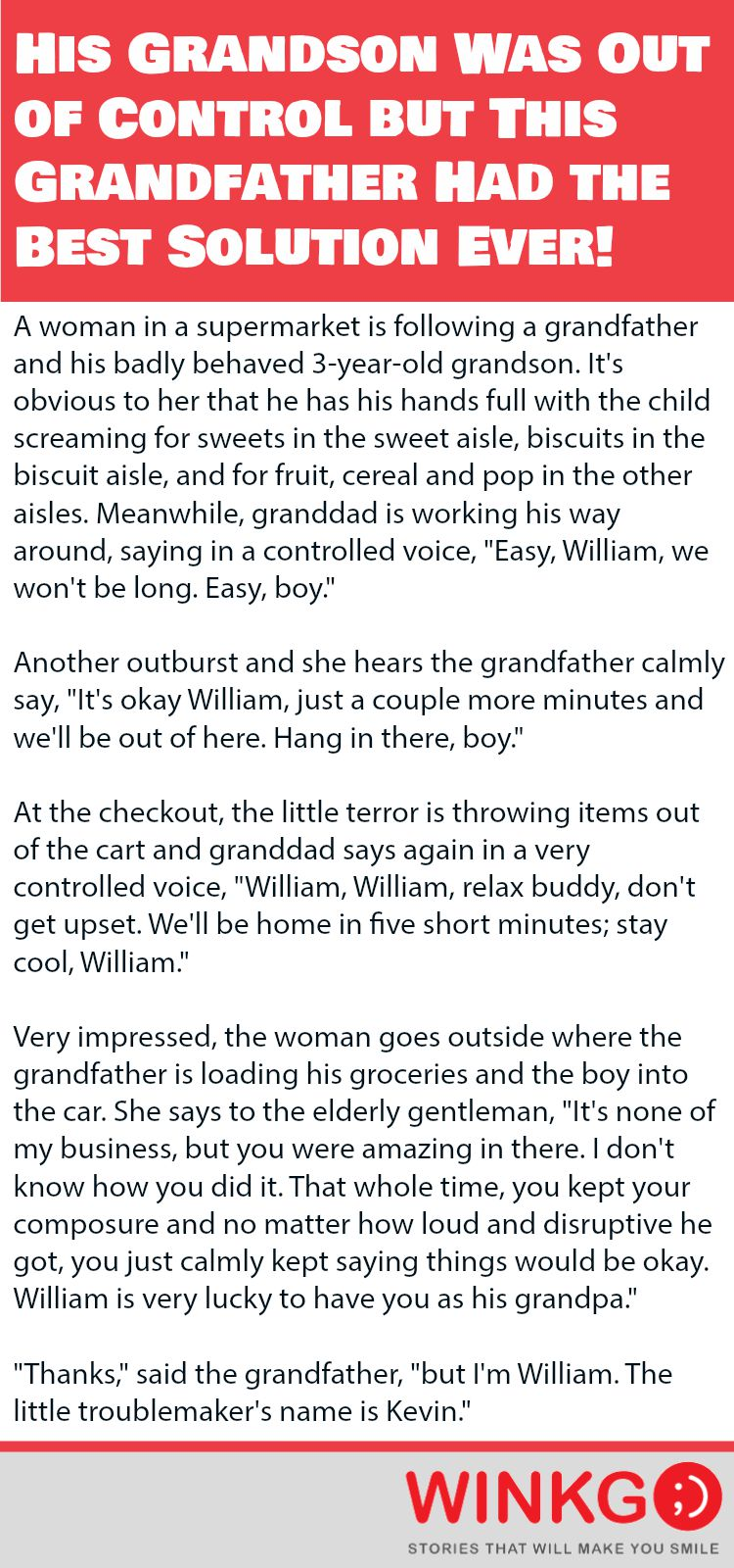 His Grandson Was Out of Control but This Grandfather Had the Best Solution Ever.