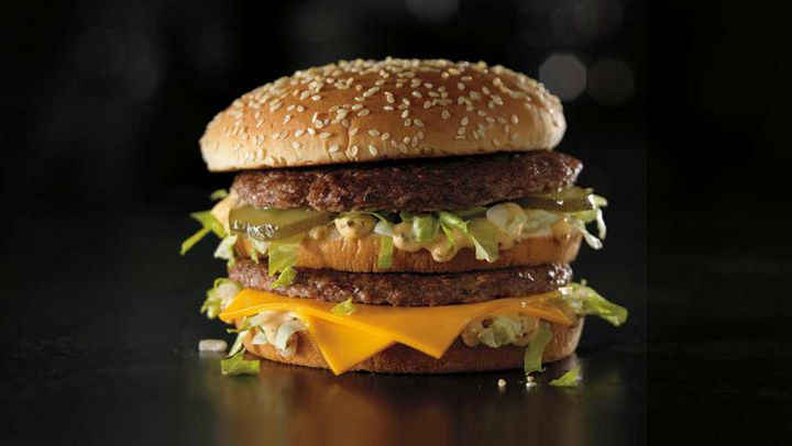 10 Fast Food Burgers With Less Fat and Calories Than a Caesar Salad - McDonald's Big Mac.