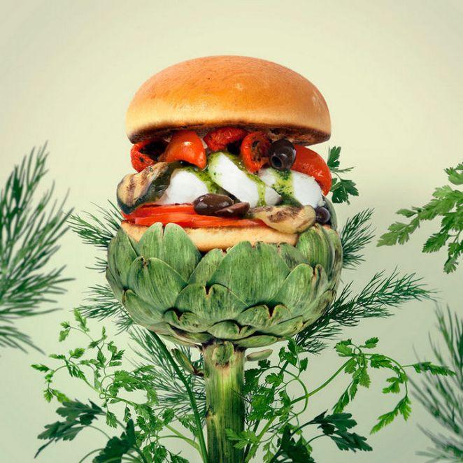 Fat andFurious Burgers - Go Green Burger.