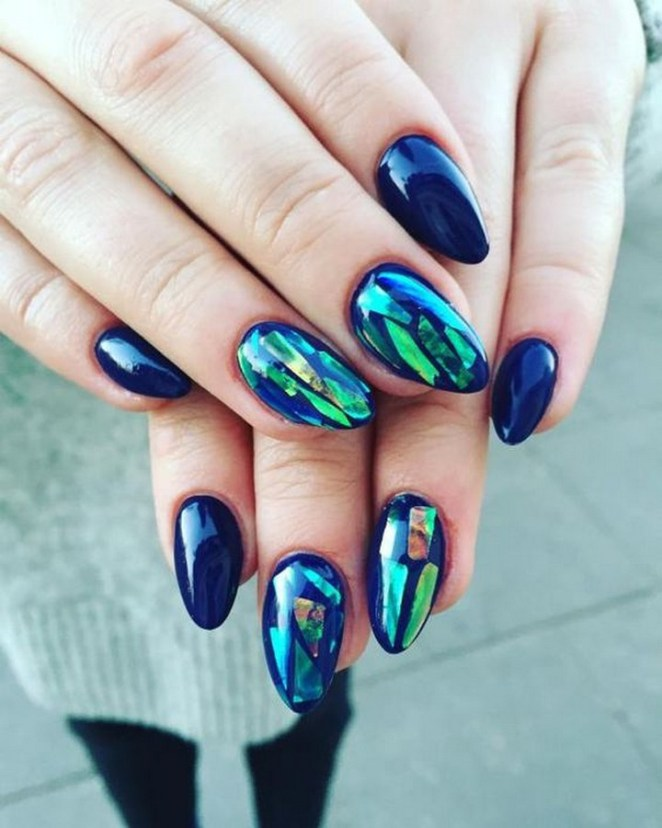17 Chrome Nails - Looking great with a stained glass effect.