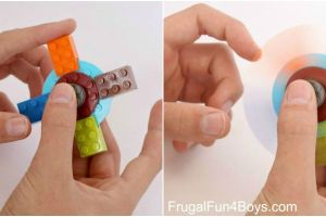 DIY Lego Fidget Spinner with Easy Video Tutorial and Part Listing.