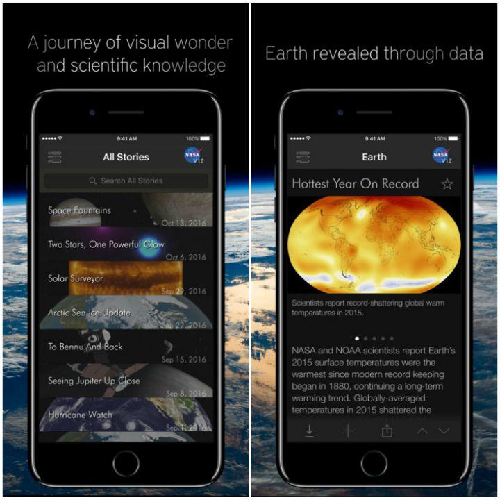 23 Kids Learning Apps - NASA Visualization Explorer.