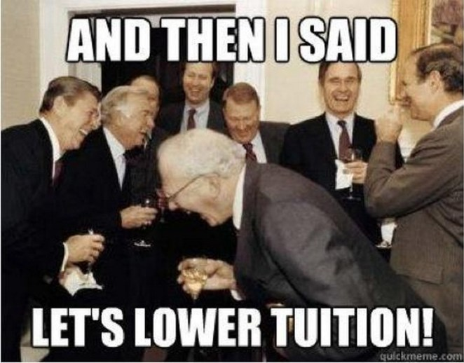 49 Funny School Memes - Odds of tuition going down: 0%.