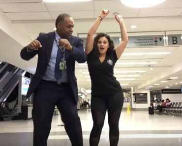 Woman Dances All Night Long at an Airport in Charlotte, NC.