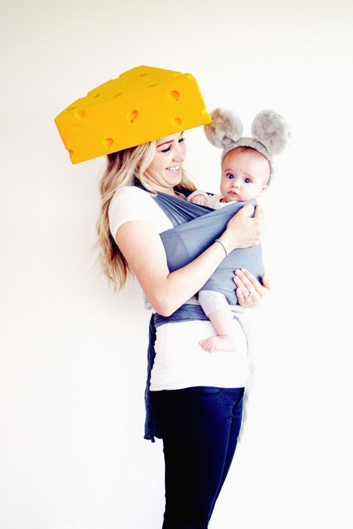 17 Funny Halloween Costumes for Babies - Mouse & Cheese Halloween costumes for babies