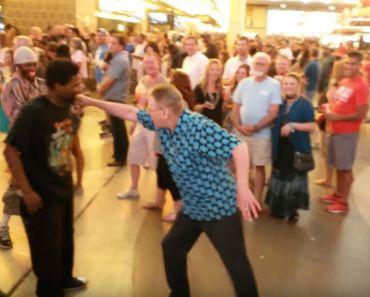 Grandpa Break Dancing Battle Against Two Young Men is Hilarious.