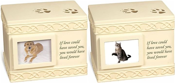 9 Pet Memorial Gifts - Pet urns to hold your pet's cremation ashes.