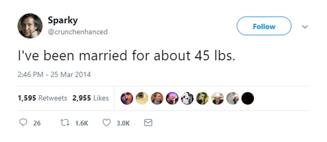 """27 Best Marriage Tweets - Gives a whole new meaning to the phrase """"letting yourself go."""""""