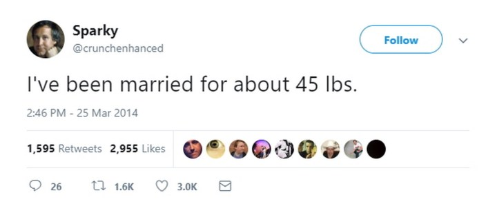 """47 Best Marriage Tweets - Gives a whole new meaning to the phrase """"letting yourself go."""""""