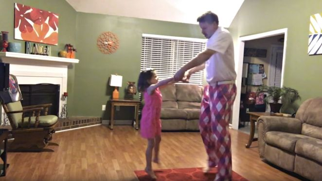 You Can't Stop the Feeling When Watching This Daddy  Daughter Dance.