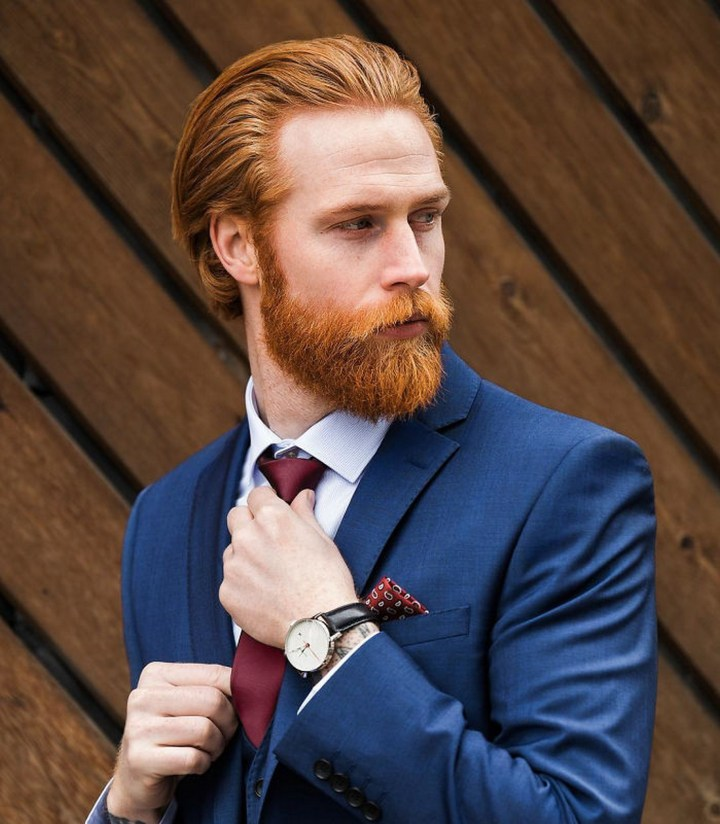 Thanks to Instagram, it was also there where he was spotted by Welsh tailor Nathan Palmer and given the opportunity to appear in Nathan Palmer's 2015 collection.