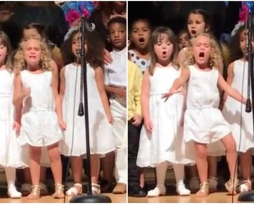 4-Year-Old Girl Gives an Epic Performance at Her School Ceremony.