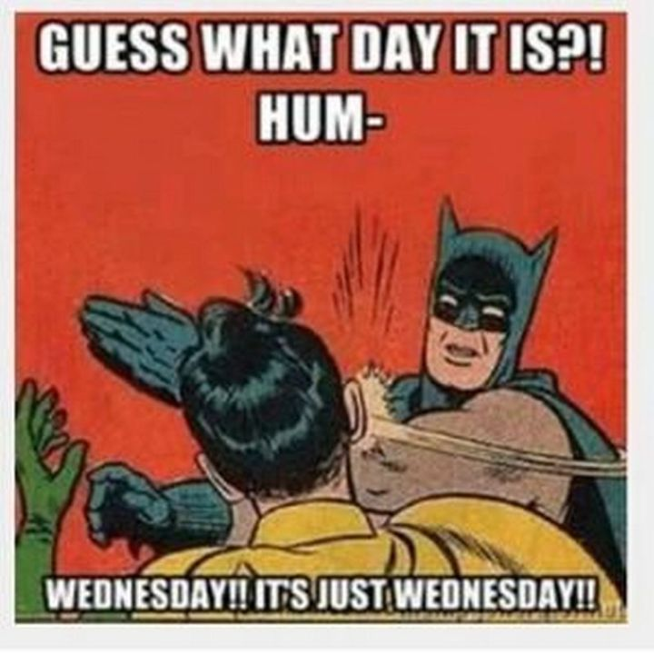 "15 Funny Wednesday Memes - ""Guess what day it is?! Wednesday!! It's just Wednesday!!"""