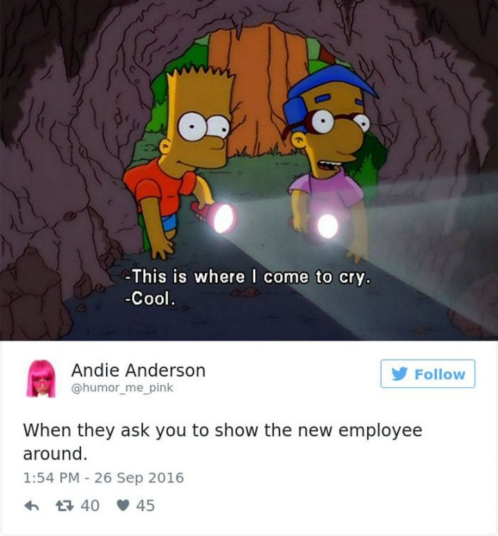 """47 Funny Work Memes - """"When they ask you to show the new employee around."""""""