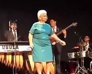 Grandma Dancing On Stage Has So Much Fun She Just Can't Stop.