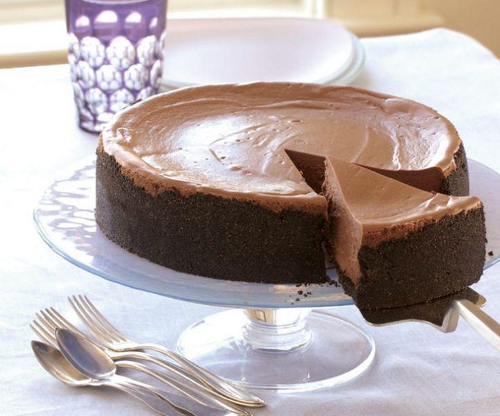 19 Delicious Cheesecake Recipes - Triple-Chocolate Cheesecake.
