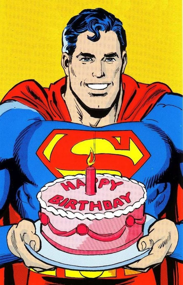 "101 Happy Birthday Memes - ""Happy Birthday from Superman."""