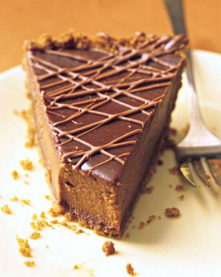 27 Pumpkin Pie Recipes - Triple-Chocolate Pumpkin Pie.
