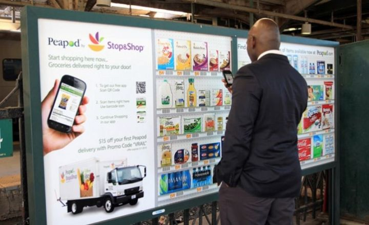 27 Awesome Billboards - Peapod Stop & Shop lets pedestrians order groceries with their smartphone and get it delivered right to their door.