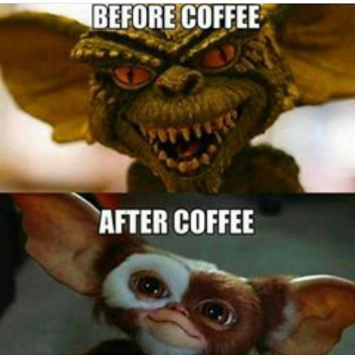"""101 Funny Nursing Memes - """"Before coffee. After coffee."""""""