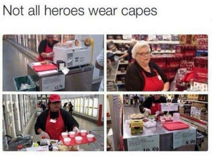 "29 Funny Costco Memes - ""Not all heroes wear capes."""