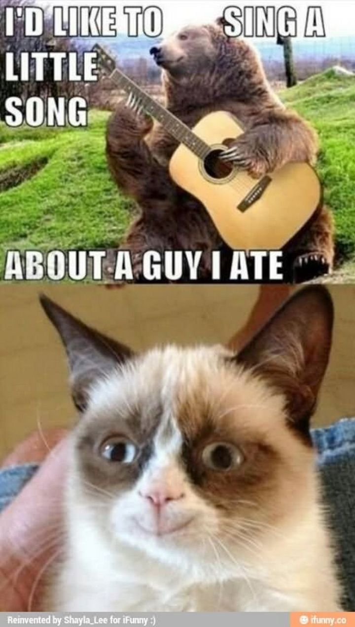 """101 Smile Memes - """"I'd like to sing a little song about a guy I ate."""""""