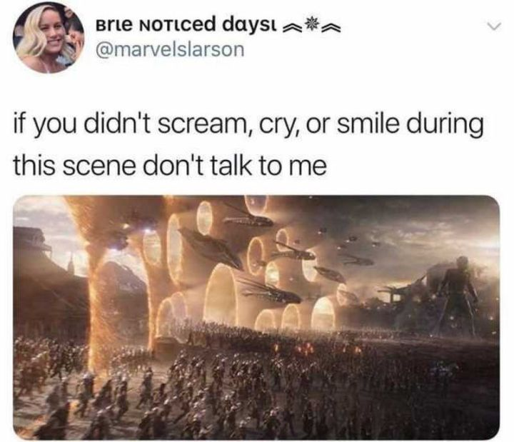"""101 Smile Memes - """"If you didn't scream, cry, or smile during this scene, don't talk to me."""""""