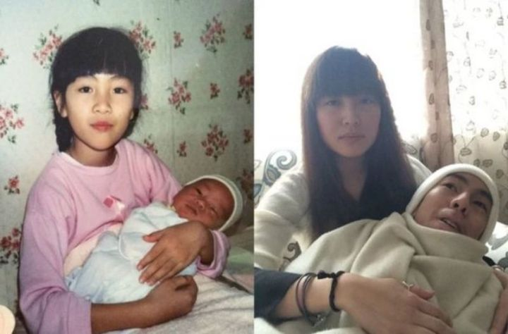 """35 Then and now pictures - """"Then and now pictures of my sister and I, 1992 and 2014."""""""