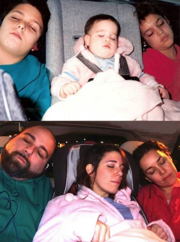"""35 Then and now pictures - """"As a wedding anniversary gift for my folks, my siblings and I did this. 25 years difference…"""""""