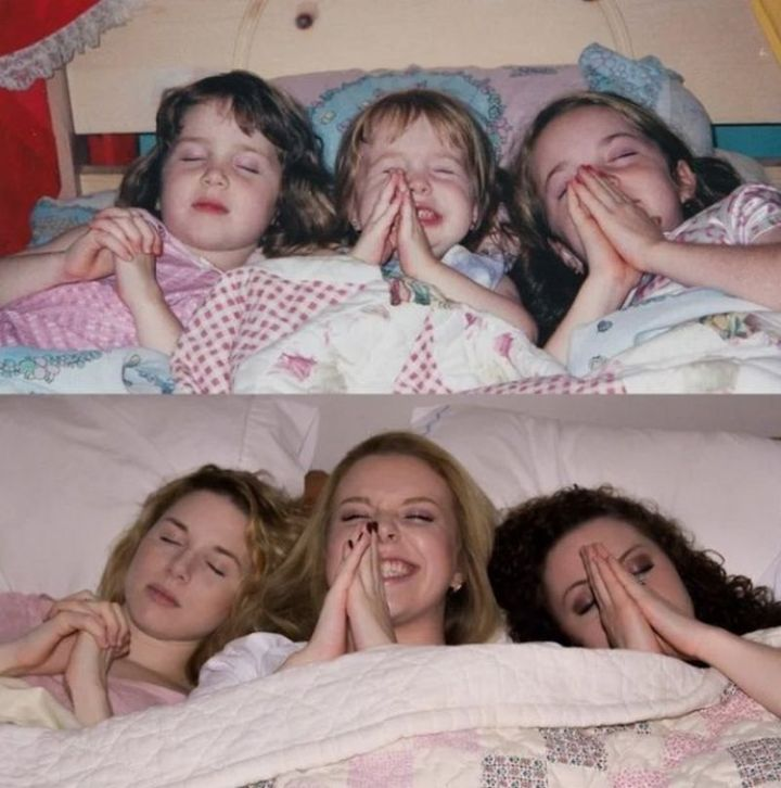 """35 Then and now pictures - """"Sisters, 15 years apart!"""""""