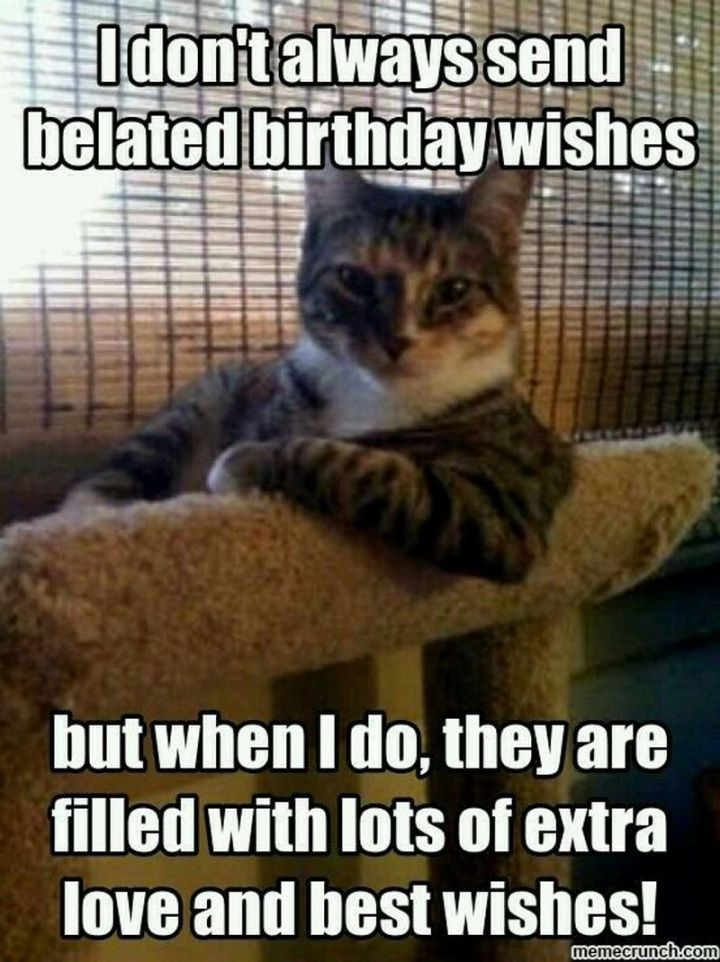 """85 Happy Belated Birthday Memes - """"I don't always send belated birthday wishes but when I do, they are filled with lots of extra love and best wishes!"""""""