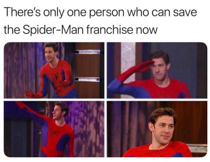 """57 Funny 'the Office' Memes - """"There's only one person who can save the Spider-Man franchise now."""""""