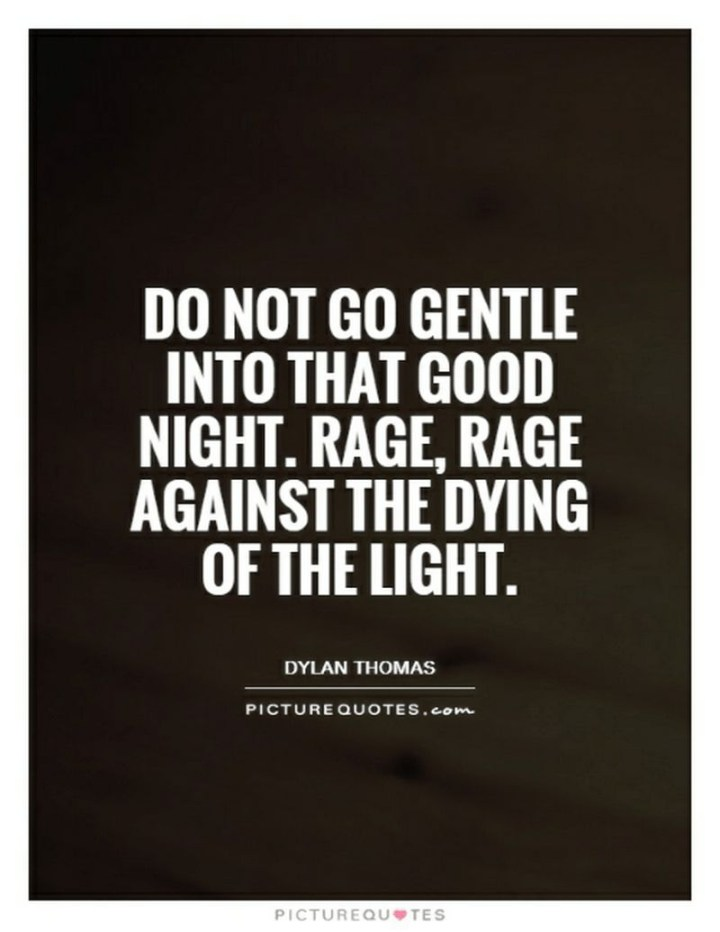"""51 Good Night Images and Quotes - """"Do not go gentle into that good night. Rage, rage against the dying of the light."""""""