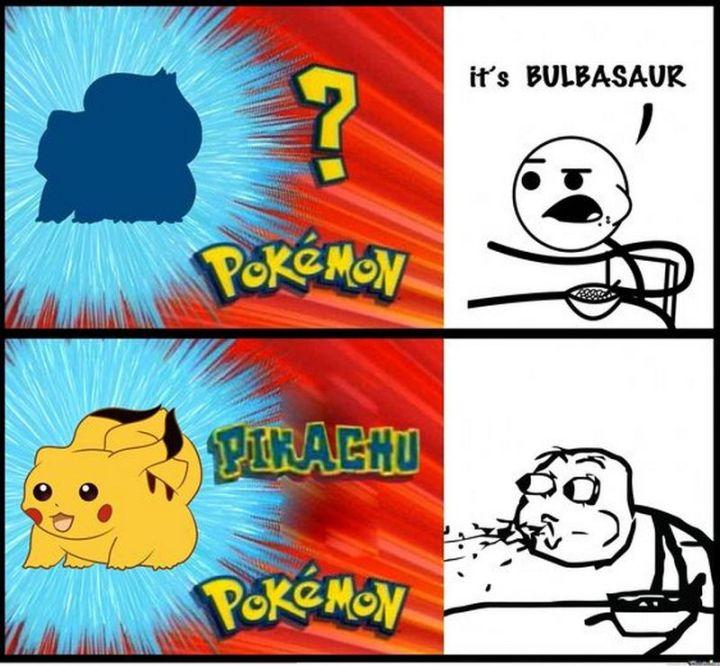 "71 Pokémon memes - ""? Pokémon: It's Bulbasaur. Pikachu Pokémon."""
