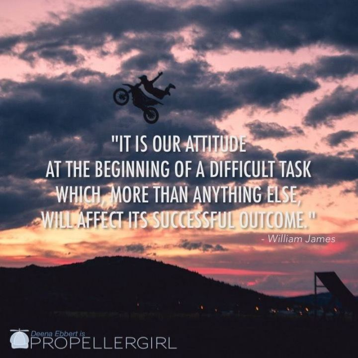 "41 Positive Quotes - ""It is our attitude at the beginning of a difficult task which, more than anything else, will affect its successful outcome."" - William James"