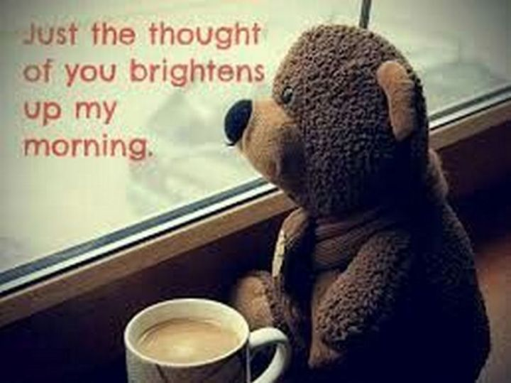 "101 Funny Good Morning Memes - ""Just the thought of you brightens up my morning."""