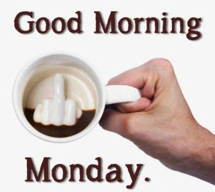 "101 Funny Good Morning Memes - ""Good morning Monday."""