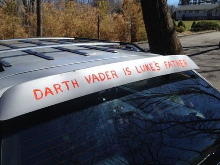 "85 Car Memes - ""Darth Vader is Luke's father."""