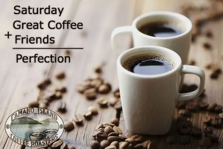 "101 Saturday Memes - ""Saturday great coffee + friends = perfection."""