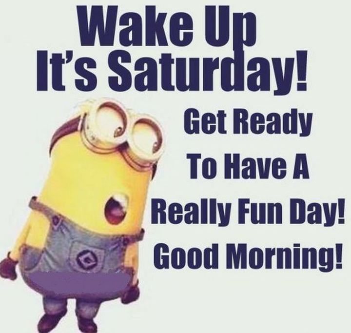 "101 Saturday Memes - ""Wake up it's Saturday! Get ready to have a really fun day! Good morning!"""