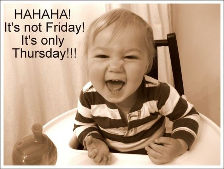 "101 Thursday Memes - ""Hahaha! It's not Friday! It's only Thursday!!!"""