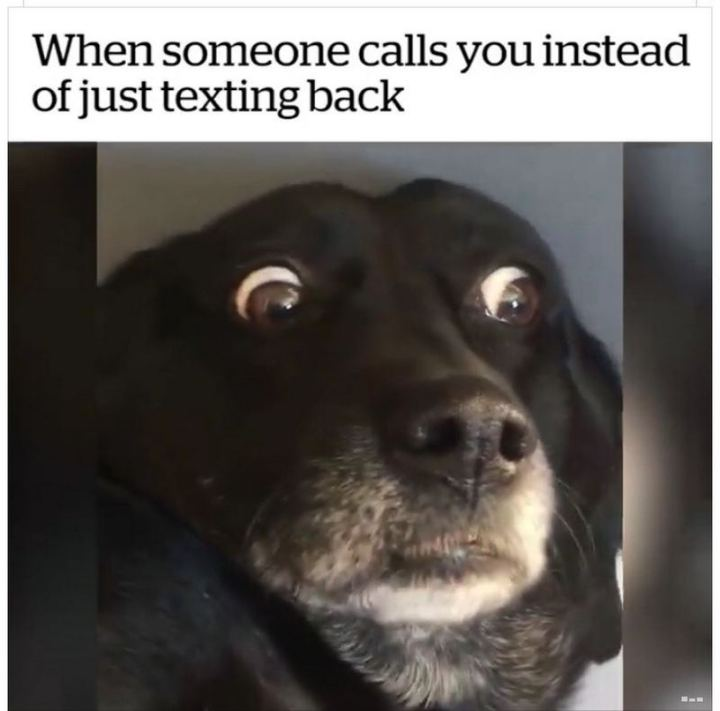 "75 Introvert Memes - ""When someone calls you instead of just texting back."""