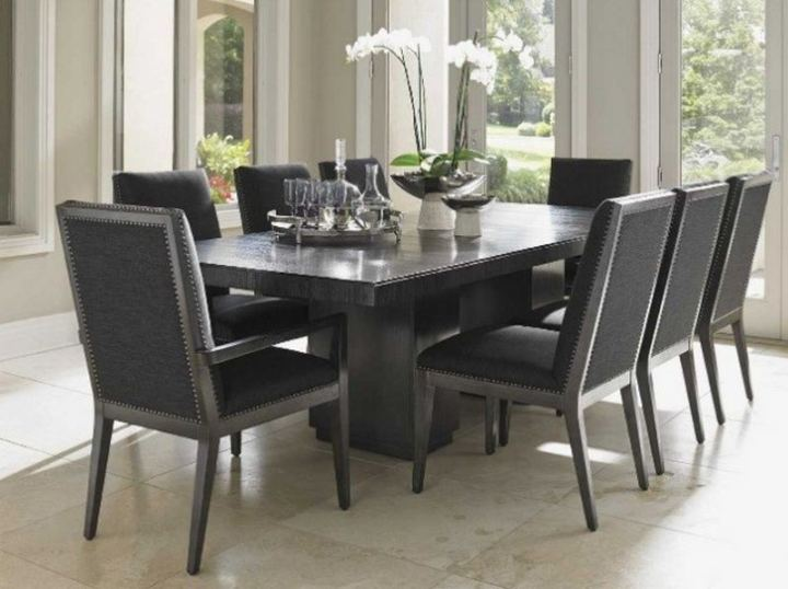Square table shape with rounded chairs.